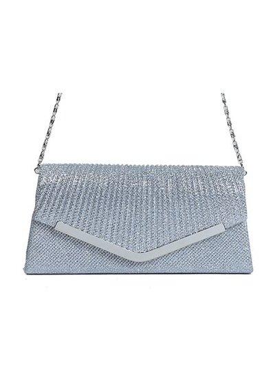 Chic sparkle shoulder bag grey