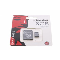 Kingston Technology MicroSDHC Class 4 8GB geheugenkaart + adapter