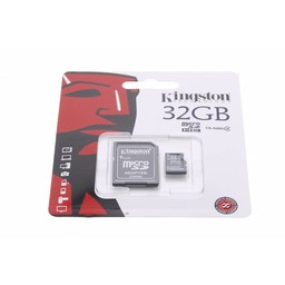 Kingston Technology MicroSDHC Class 4 32GB geheugenkaart + adapter