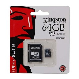 Kingston Technology MicroSDXC Class 10 64GB geheugenkaart + adapter