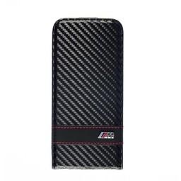 BMW Apple Iphone 6 BMW Carbon-Look Flip Case Zwart
