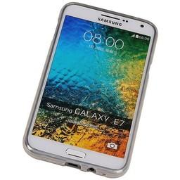 Puloka TPU Siliconen hoesje voor de achterkant van de Samsung Galaxy E7 - Transparant / Grijs / Roze / Bruin
