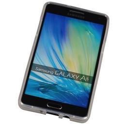 Puloka TPU Siliconen hoesje voor de achterkant van de Samsung Galaxy A5 - Transparant / Grijs / Roze / Bruin