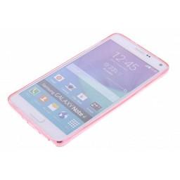Puloka TPU Siliconen hoesje voor de achterkant van de Samsung Galaxy Note 4 - Transparant / Grijs / Roze / Bruin