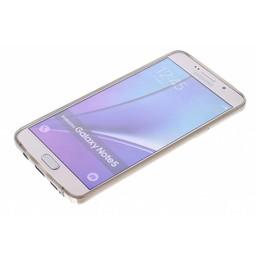 Puloka TPU Siliconen hoesje voor de achterkant van de Samsung Galaxy Note 5 - Transparant / Grijs / Bruin