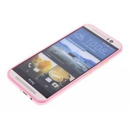 Puloka TPU Siliconen hoesje voor de achterkant van de HTC One M9 - Transparant / Grijs / Roze / Bruin