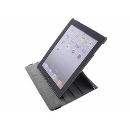 Ipad 2 360° Rotating Case - Roterende Hoesje - Zwart / Wit