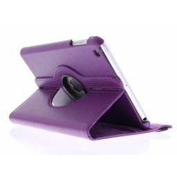 Ipad 3 360° Rotating Case - Roterende Hoesje - Roze / Paars