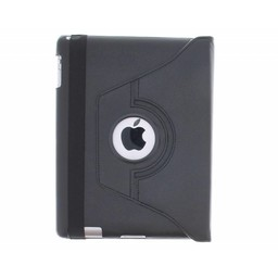 iPad 4 360° Rotating Case - Roterende Hoesje - Zwart / Wit