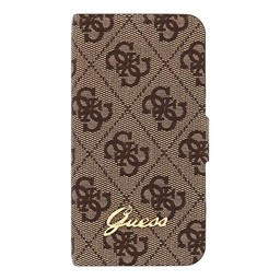 Guess Originele Brown Bookcase hoesje voor de Apple iPhone 4 / 4S
