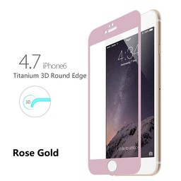 Tempered Glass Titanium Alloy Fullscreen iphone 6 / 6S screenprotector - Rose Goud