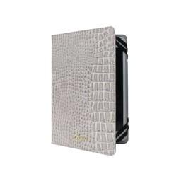 Guess Originele Glossy Croco Universele Tablet - iPad Case hoesje 7″ / 8″ Inch - Beige