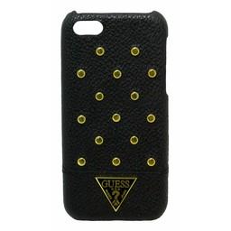 Guess Apple iPhone 5C Originele Studded Collection Hardcase met Gouden Studs hoesje - zwart