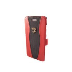 Automobili Lamborghini Huracan D2 Bookcase hoesje voor de Apple iPhone 6 / 6S - Zwart / Rood