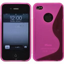 iPhone 4G/4S siliconen S-line (gel) achterkant hoesje - Roze