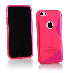 iPhone 5G/5S siliconen S-line (gel) achterkant hoesje - Roze