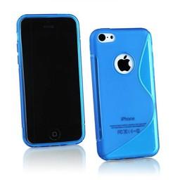 iPhone 5G/5S siliconen S-line (gel) achterkant hoesje - Blauw