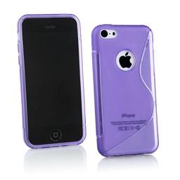 iPhone 5G/5S siliconen S-line (gel) achterkant hoesje - Paars