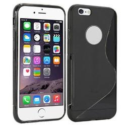 iPhone 6 plus siliconen S-line (gel) achterkant hoesje - Zwart