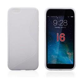iPhone 6 plus siliconen S-line (gel) achterkant hoesje - Wit
