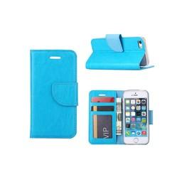 Luxe lederen Bookcase hoesje voor de Apple iPhone 5G / 5S / SE - Blauw