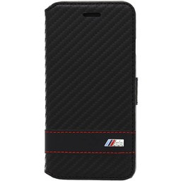 BMW Apple iPhone 6 / 6S Carbon-Look Bookcase hoesje - Zwart