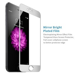 Tempered Glass Titanium Alloy Fullscreen Apple iPhone 6 / 6S Screenprotector - Zilver