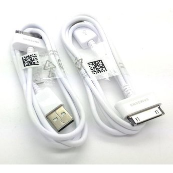 Samsung Originele Galaxy Tab USB-Data + oplaadkabel 1 meter - Wit