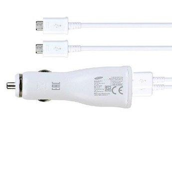 Samsung Originele Adaptive Fast Charging Dual port Autolader 9.0V / 2,0 A met kabel - Wit