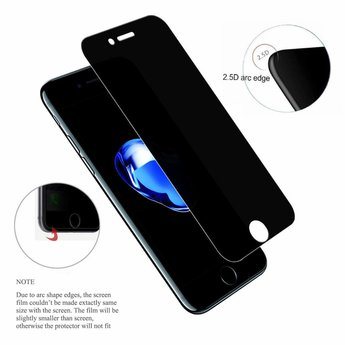 Tempered Privacy Glass Apple iPhone 7 Privacy Glass Screenprotector