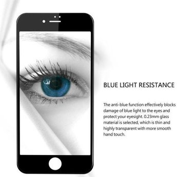 Diva iPhone 6 / 6S Anti Blue Light Fullscreen Screenprotector - Wit