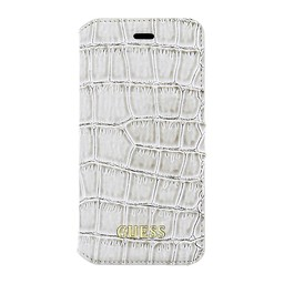 Guess Originele Croco Bookcase Hoesje voor de iPhone 6 / 6S - Beige