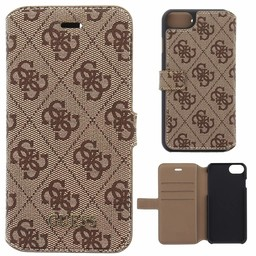 Guess Originele 4G Uptown Folio Bookcase voor de iPhone 6 / 6S - Bruin