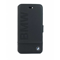 BMW Originele Siganture Debossed Logo Folio Bookcase voor de iPhone 7 / 8 - Zwart
