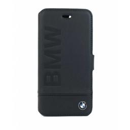 BMW Originele Signature Debossed Logo Folio Bookcase voor de Apple iPhone 7 / 8 - Zwart