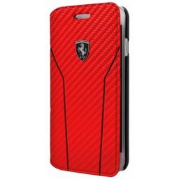 Ferrari Originele Off Track Scuderia Folio Bookcase Hoesje voor de Apple iPhone 6 / 6S / 7 en 8 - Rood