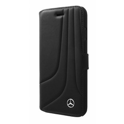 Mercedes-Benz Originele Bow III Folio Bookcase voor de iPhone 6 Plus / 6S Plus / 7 Plus en 8 Plus - Zwart