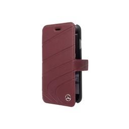 Mercedes-Benz Originele Wave III Folio Bookcase voor de iPhone 6 / 6S / 7 en 8 - Bordeaux Rood