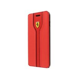 Ferrari Originele Scuderia Carbon Design Folio Bookcase iPhone 6 / 6S - Rood