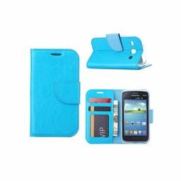 Luxe lederen Bookcase hoesje voor de Samsung Galaxy Core I8260 - Blauw