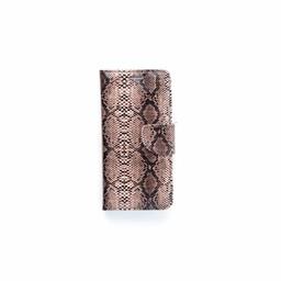 Slangenprint Lederen Bookcase hoesje - Zwart voor de Samsung Galaxy S7  Edge