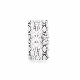 Slangenprint Lederen Bookcase hoesje - Wit voor de Samsung Galaxy S7 Edge