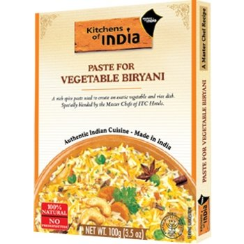 Kitchens of India Paste for Vegetable Biryani, 100 gr