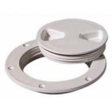 """Tempress Marine Deck Plate White 8"""" Screw Out"""