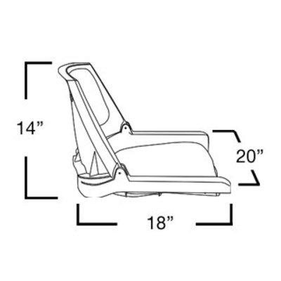 Springfield Traveler Gray / Charcoal Gray boat seat