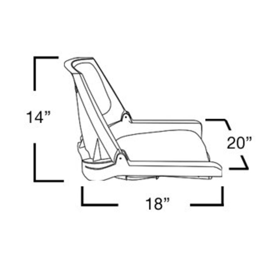 Traveler Grau / Charcoal Bootssitz