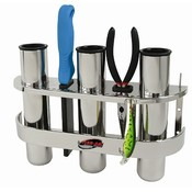 Fish-On! Porte en acier inoxydable Triple Rod