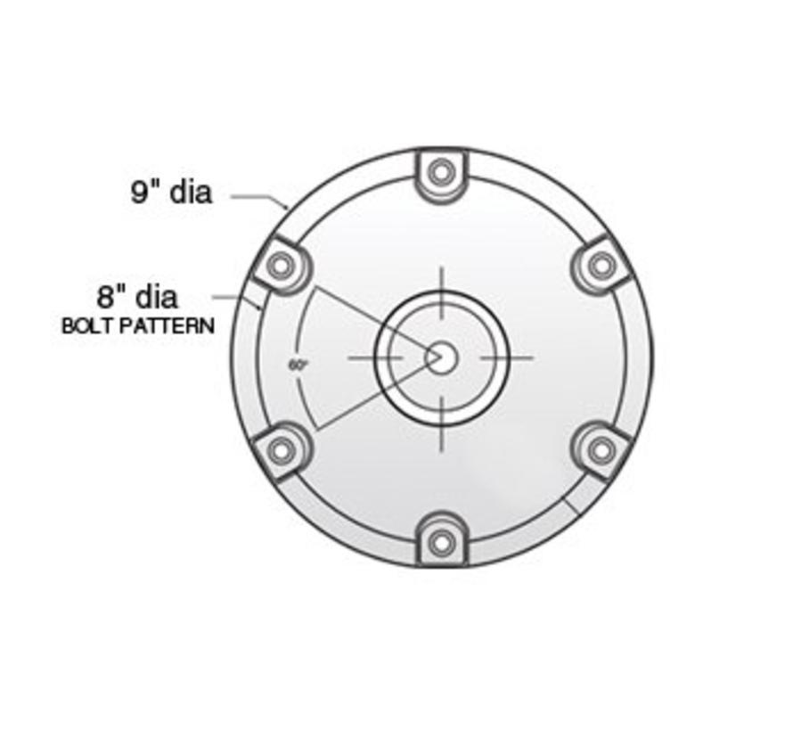 """Taper-Lock 9 """"Round Aluminum Base"""