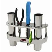 Fish-On! Support en acier inoxydable Double Rod