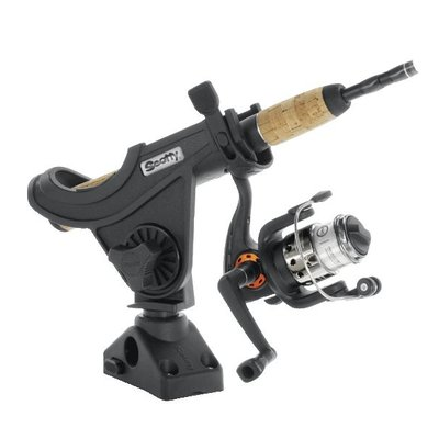 Scotty 280 Baitcaster / Spinning Rod holder with side / deck mounting (241)